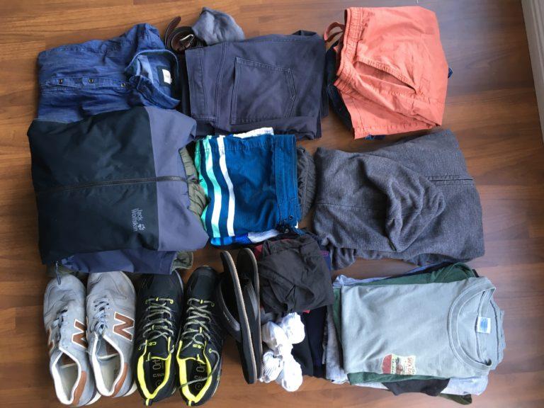 Kleidung Weltreise