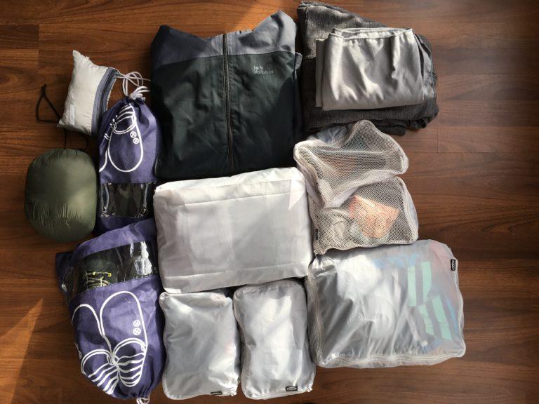Packbeutel Weltreise